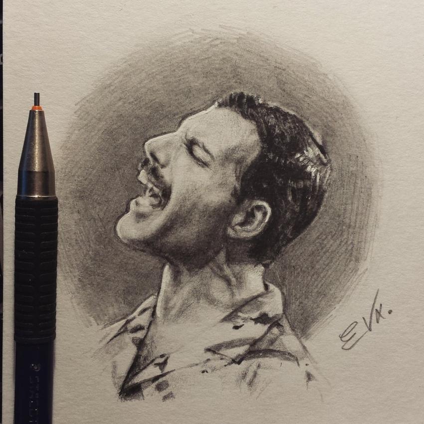 Freddie Mercury, Queen by 1DBeatle